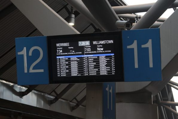 Williamstown train running about 25 minutes late at Southern Cross