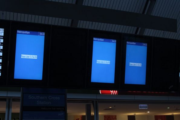 'Please Listen to the PA' message on every suburban PID screen