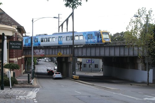 X'Trapolis 192M on an up service crosses the Canterbury Road bridge