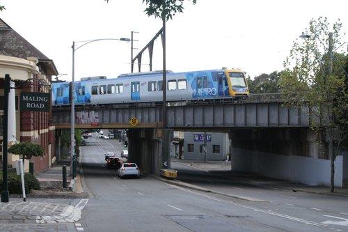 X'Trapolis 192M on an up service crosses the Canterbury Road bridge