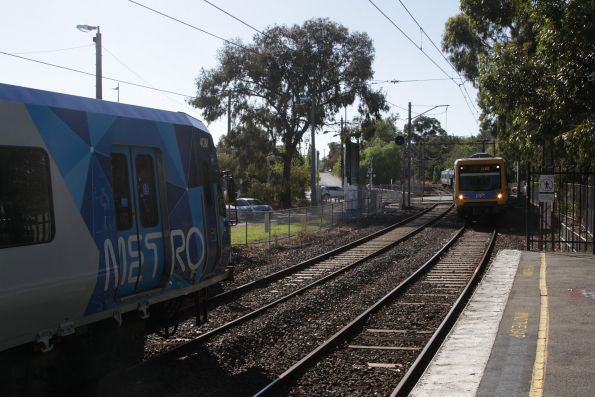 X'Trapolis 40M meets a citybound classmate at Tooronga station