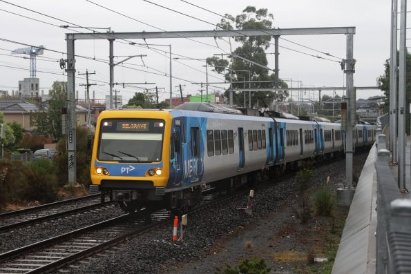 X'Trapolis 86M departs Nunawading with a down Belgrave service