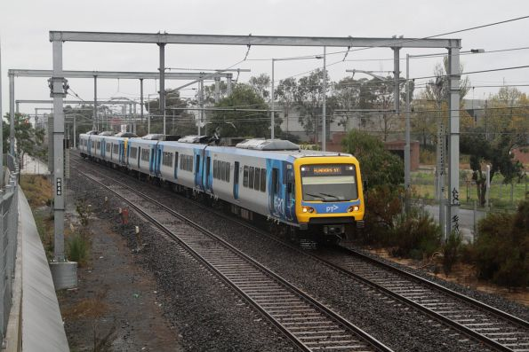 X'Trapolis 912M arrives at Nunawading with an up service