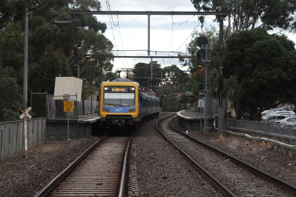 X'Trapolis 156M awaits a clear run out of Riversdale platform 2