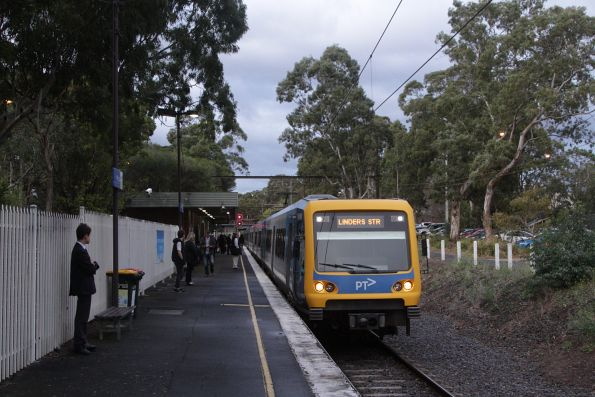 X'Trapolis train arrives at Ashburton with an up Alamein service
