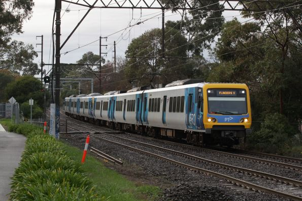 X'Trapolis 46M arrives into Box Hill with an up service