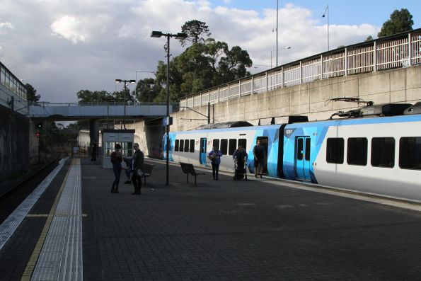 X'Trapolis train departs Boronia station on the down