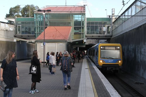 X'Trapolis train arrives at Boronia station on the up