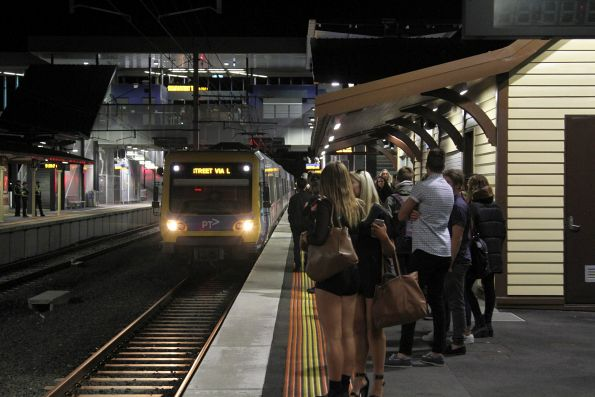 X'Trapolis train arrives at Ringwood station on the up