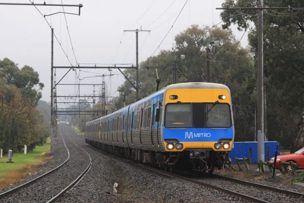 Alstom Comeng on the down at Hughesdale