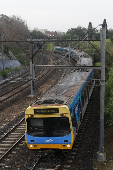 EDI Comeng arrives into South Yarra on an up Frankston service
