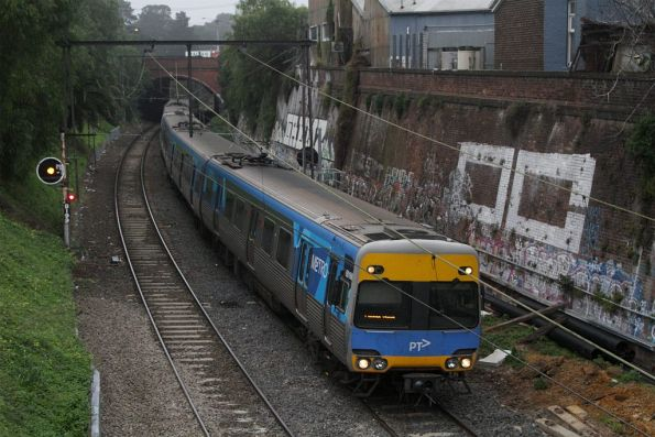 Alstom Comeng 601M in the cutting between Dandenong Road and Chapel Street at Windsor