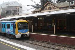 Siemens 823M stops for passengers at Windsor station
