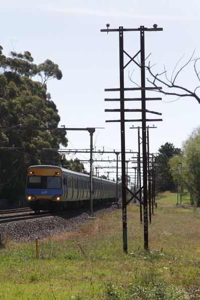 Down train arrives at the up end of Pakenham