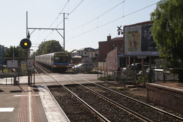 EDI Comeng arrives into Murrumbeena station on the down