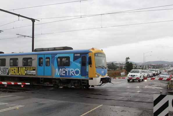 Siemens 826M arrives into Cardinia Road station on a down Pakenham service