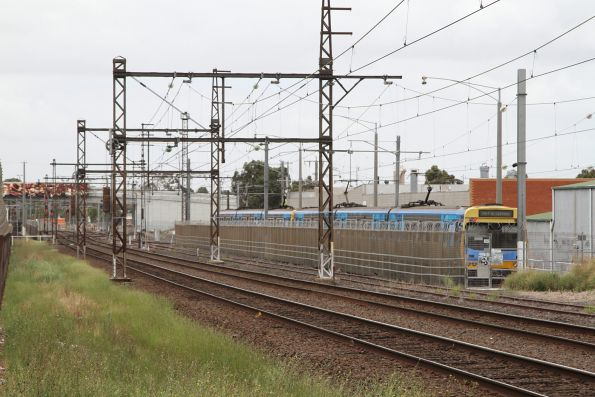 Stabled Comeng train in siding 3 at Dandenong