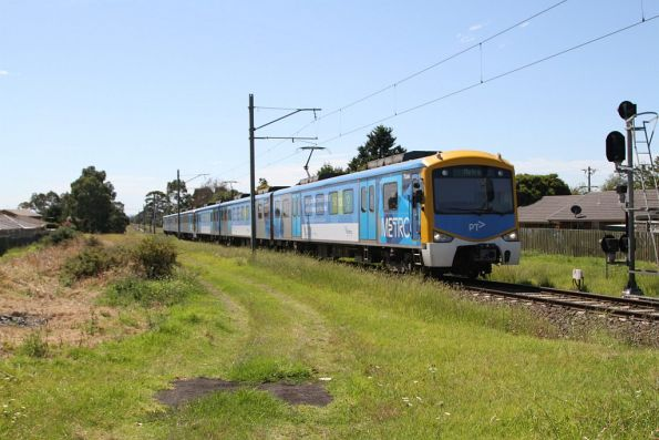 Siemens train arrives at Cranbourne station
