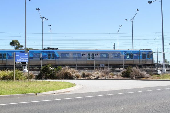 Alstom Comeng stabled for the weekend at Cranbourne