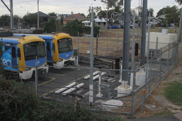Stabled Siemens train at Mordialloc station