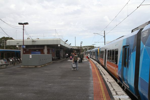 X'Trapolis train on arrival at Frankston station