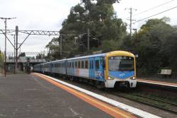 Siemens 784M passes through Toorak station on a down Pakenham service