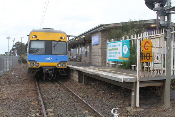 Alstom Comeng train awaiting departure time from Pakenham