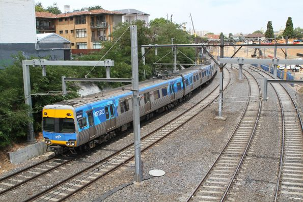 Alstom Comeng 634M trails a down service out of South Yarra station