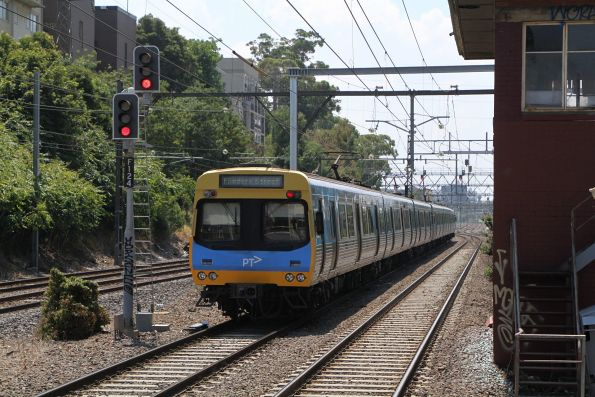 EDI Comeng train trails an up Frankston service out of South Yarra