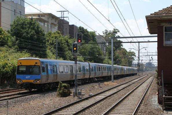 Alstom Comeng 622M arrives into South Yarra on a down Sandringham service