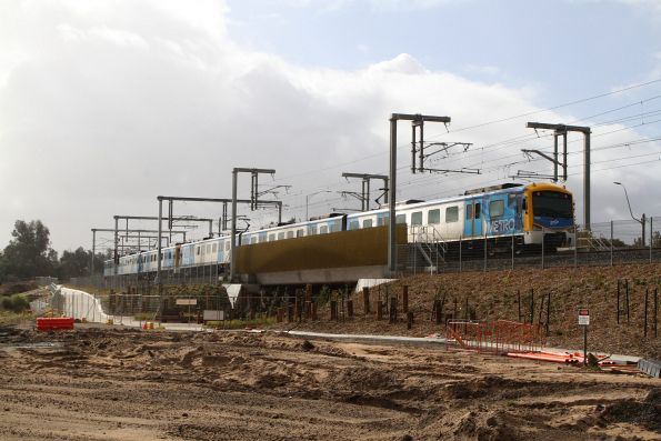 Siemens 702M trails an up Frankston service at Seaford Road