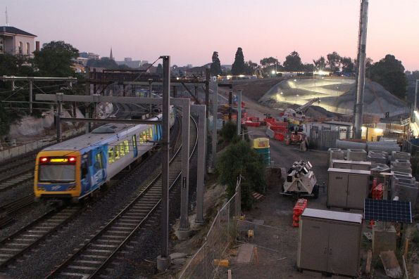 X'Trapolis train departs South Yarra on a down Frankston service