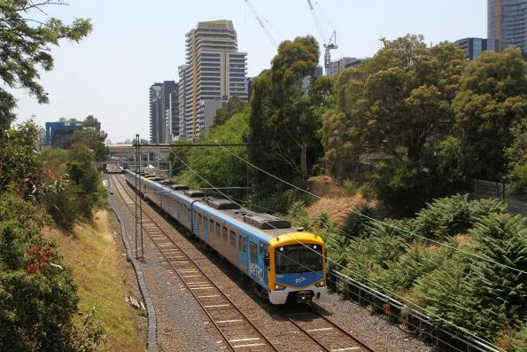 Siemens 738M departs South Yarra on a down Sandringham service