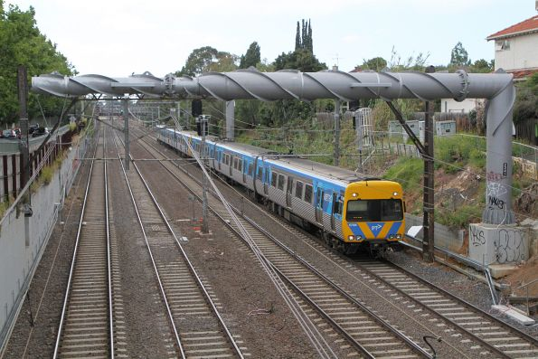 Alstom Comeng 678M on an up Frankston service at Armadale