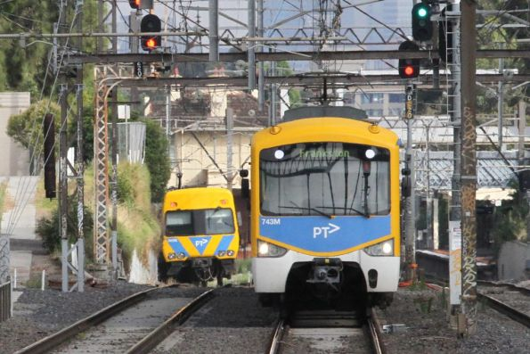 Siemens 743M on a down Frankston service at Armadale