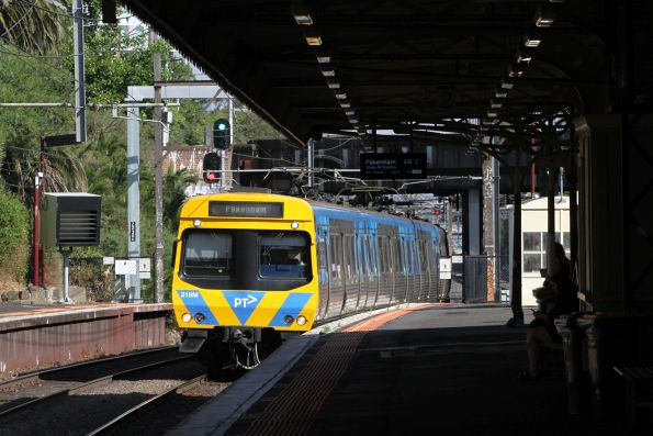 EDI Comeng 319M on a down Pakenham service at Armadale