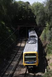 Citybound X'Trapolis down in the cutting that links the two tunnels at Jolimont