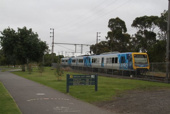 X'Trapolis 84M trails a down South Morang service at Rushall