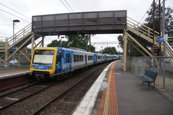 X'Trapolis train leads an up service out of Westgarth