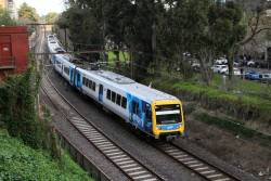 X'Trapolis 28M passes the City Loop portal at Jolimont on the up