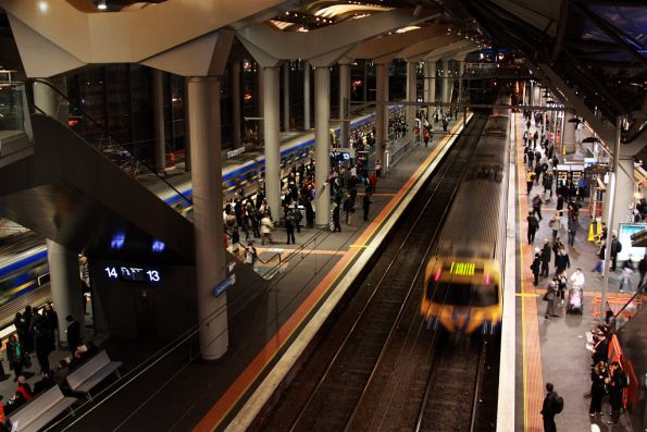 Platforms 12 and 13 at Southern Cross
