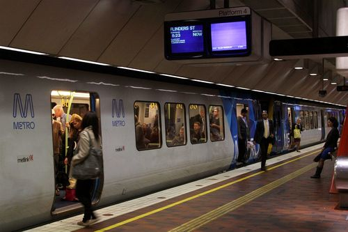 XTrapolis train at Melbourne Central platform 4