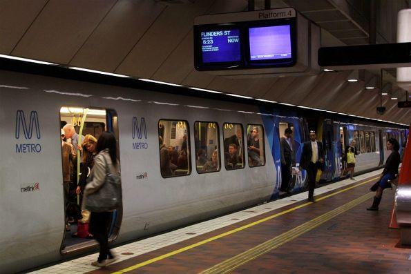 X'Trapolis train at Melbourne Central platform 4