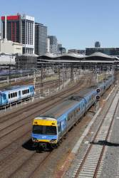 Alstom Comeng departs Southern Cross Station on the down