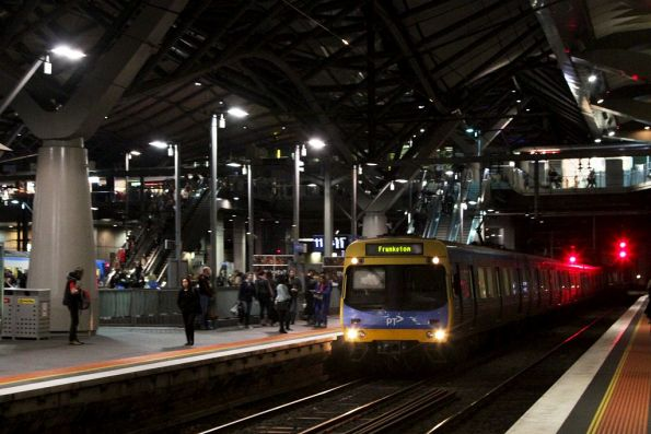 EDI Comeng on a down Frankston service arrives into Southern Cross