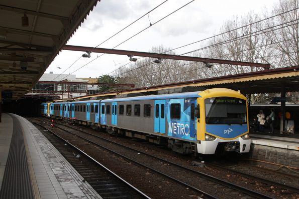 Siemens 817M arrives into Flinders Street platform 10