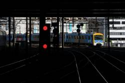 Siemens train arrives into Southern Cross Station