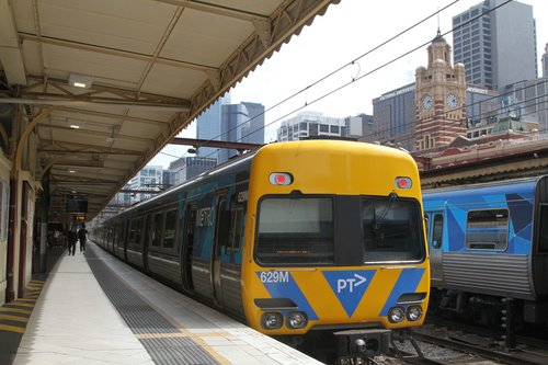 Life extension Comeng 629M at Flinders Street platform 10