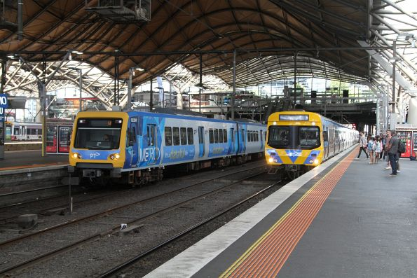 X'Trapolis 923M and life extension EDI Comeng 408M at Southern Cross Station