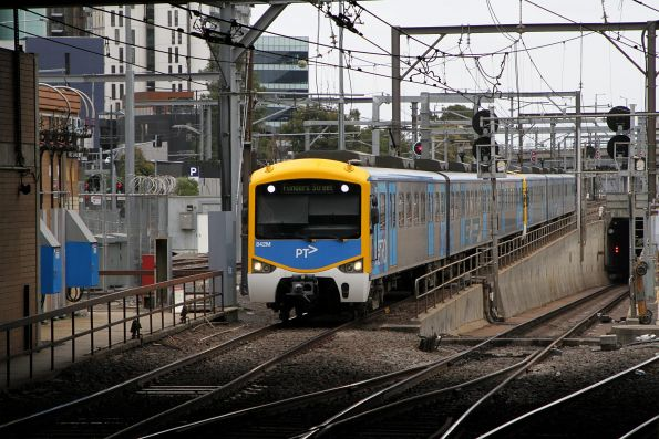 Siemens 842M arrives into Southern Cross on an up Werribee service